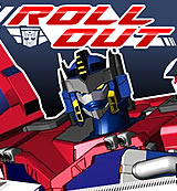 Transformers - Roll Out  -  The Speed Key will be ours! Not so fast, Decepticons! Rase the Decepticons to the Speed Planet Key. Build up speed to transform into truck form automatically.